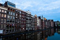 Traditional Dutch Architecture Houses Stock Images
