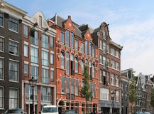 Amsterdam houses street Royalty Free Stock Photography