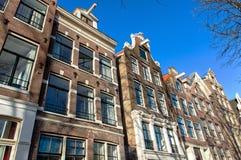 Traditional dutch buildings, Amsterdam Stock Photos