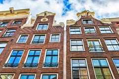 Traditional dutch buildings, Amsterdam Royalty Free Stock Photo