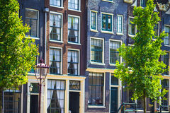 Traditional dutch buildings and blocks of flats in Royalty Free Stock Photos
