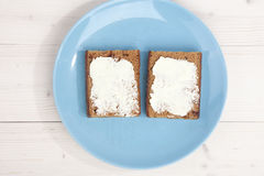 Traditional Dutch cake Ontbijtkoek with traditional butter Royalty Free Stock Photography