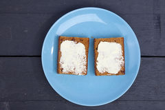 Traditional Dutch cake Ontbijtkoek with traditional butter Royalty Free Stock Photo