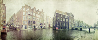 Traditional dutch canal houses Royalty Free Stock Photos