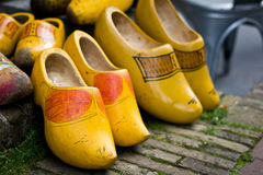 Traditional Dutch Clogs. Traditional Dutch wooden shoes, properly known as clogs Stock Images