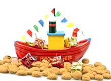 Traditional dutch culture: Santa Claus steamboat Royalty Free Stock Photography