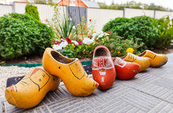 Traditional Dutch Decoration wooden shoes Stock Image