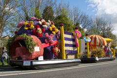 Traditional dutch flowers parade stock photography
