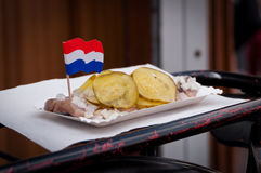 Traditional Dutch Herring Stock Images