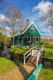 Traditional Dutch house with canal close the Amsterdam, Holland Stock Photo