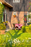 Traditional Dutch house with garden Royalty Free Stock Photo