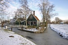 Traditional Dutch house in the Netherlands Royalty Free Stock Images