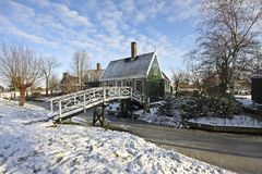 Traditional Dutch house in the Netherlands Stock Photography