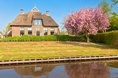 Traditional Dutch house at spring Royalty Free Stock Photo