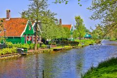 Traditional Dutch houses Stock Images