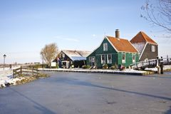 Traditional dutch houses in the Netherlands Royalty Free Stock Image