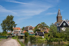Traditional Dutch houses seen on the Marken island, in the Netherlands Stock Photo