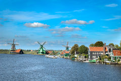Traditional Dutch landscape. Stock Image
