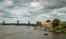 Traditional Dutch landscape. Stock Photos