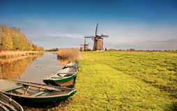 Traditional  dutch landscape Royalty Free Stock Photos