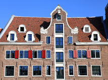 Traditional dutch medieval building in Amsterdam, Netherlands Stock Image