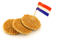 Traditional Dutch mini  waffles Stock Photos