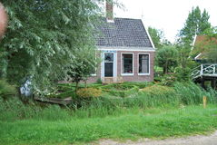 Traditional Dutch old house building in Zaanse Schans - museum v Stock Images