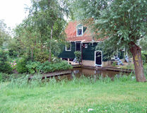 Traditional Dutch old house building in Zaanse Schans - museum v Stock Photo
