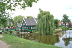 Traditional Dutch old house building in Zaanse Schans - museum v Royalty Free Stock Image