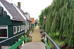 Traditional Dutch old house building in Zaanse Schans - museum v Royalty Free Stock Photography
