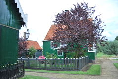 Traditional Dutch old house building in Zaanse Schans - museum v Royalty Free Stock Images