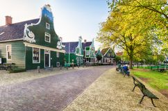 Traditional Dutch old house building in Zaanse Schans - museum v royalty free stock photos
