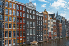 Traditional dutch old houses Amsterdam Netherlands Royalty Free Stock Image
