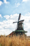 Traditional Dutch old wooden Windmills in Zaanse Schans - museum Royalty Free Stock Photos