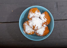 Traditional Dutch oliebollen Stock Photography