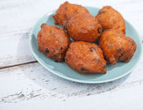 Traditional Dutch oliebollen Royalty Free Stock Photography