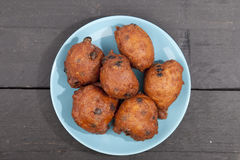 Traditional Dutch oliebollen Royalty Free Stock Images