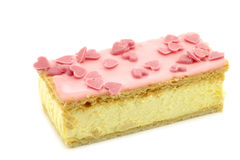 Traditional Dutch pastry called tompouce Royalty Free Stock Photos