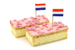 Traditional Dutch pastry called tompouce Royalty Free Stock Images