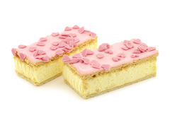 Traditional Dutch pastry called tompouce Stock Image