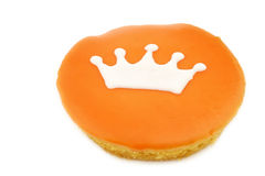 Traditional Dutch pastry with a crown Stock Photography