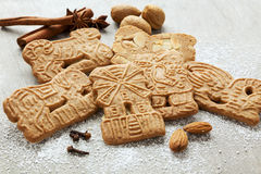 Traditional dutch pastry speculaas Stock Photos