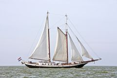 Traditional dutch sailboat in the Netherlands Royalty Free Stock Photography