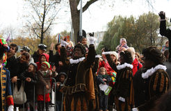 Traditional Dutch Saint Nicolas celebration Royalty Free Stock Images
