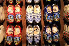 Traditional Dutch shoes Stock Images