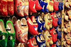 Traditional Dutch shoes stock photo