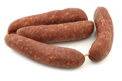Traditional Dutch smoked and dried sausages Royalty Free Stock Image