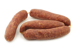 Traditional Dutch smoked and dried sausages Royalty Free Stock Photo