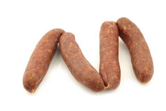Traditional Dutch smoked and dried sausages Stock Image