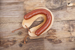 Traditional Dutch smoked sausage called Rookworst Stock Photo
